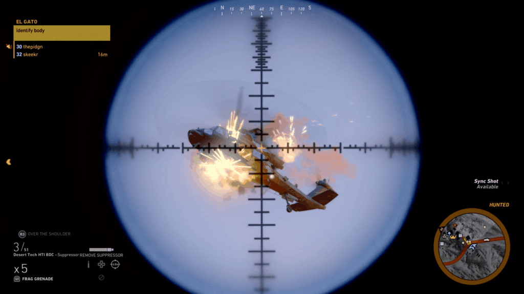 helicopter explosion in ghost recon wildlands