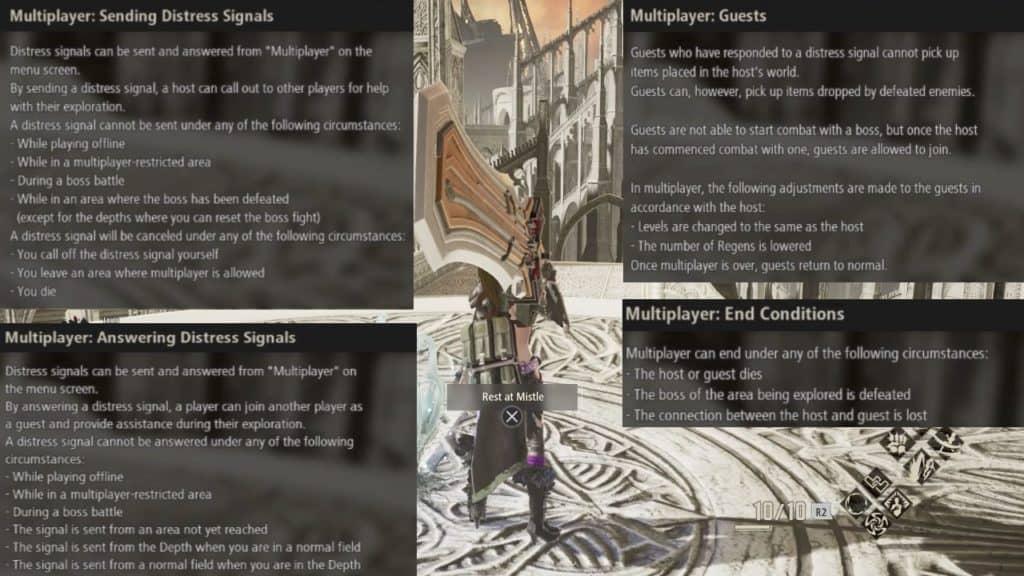 code vein multiplayer rules