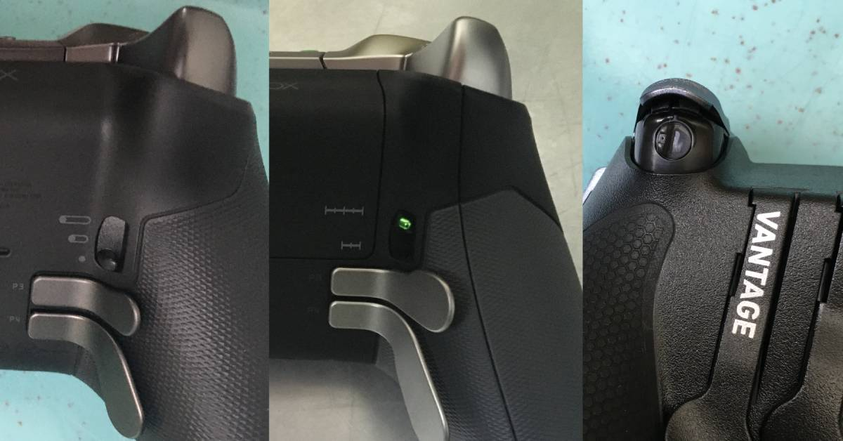 Hair Trigger Locks on the Xbox Elite 1, Elite 1, and Scuf Vantage 1